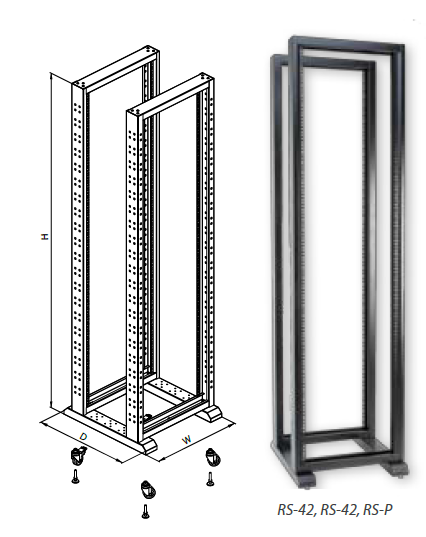 "RS series 19"" open frames (two-four post)"
