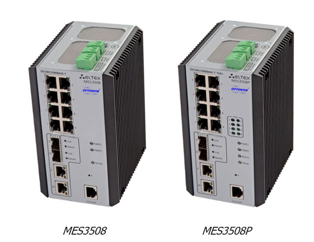 Industrial switches MES3508 + MES3508P