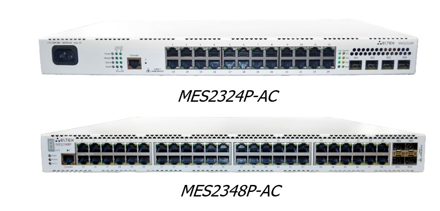 Ethernet switches MES2324P and MES2348P
